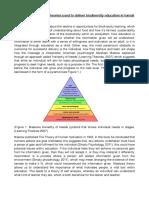 biodiversity educational delivery essay  pdf
