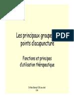 Principaux Groupes de Points Acupuncture