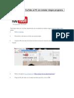 Bajar Videos de YouTube Al PC Online
