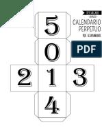 Calendario Perpetuo Semana Santa.Ficha De Semana Santa