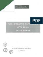 Plan Operativo Institucional 2016