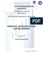 Unidad 4- Capacitacion Del Capital Humano