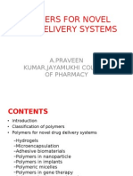 Polymers for Novel Drug Delivery Systems 2003