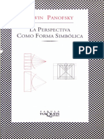 Panofsky Erwin-La Perspectiva Como Forma Simbolica