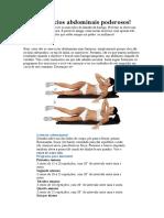 Três Exercícios Abdominais Poderosos