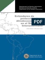 OEA, Estándares de Proteccion de Afrodescendientes