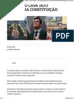 Operação Lava Jato Esculacha Constituição - Breno Altman