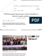 PMDB Prepara Ajuste Para Cortar Subsídios e Diminuir Gasto Público - Política - IG