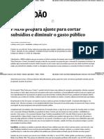 PMDB Prepara Ajuste Para Cortar Subsídios e Diminuir o Gasto Público - Política - Estadão