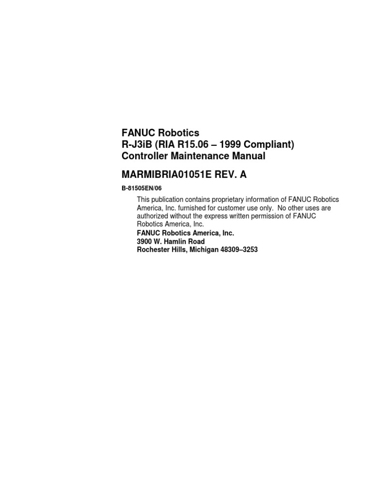 FANUC Robotics RJi3 MantoElectrico   Robot   Technology