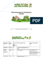 Risk Assessment for Gardening in Schools
