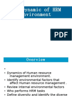 HRM - Chap 2 - The Dynamic of HRM Environment