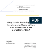 Ensayo,Vigilancia Tecnologica-Inteligencia Competitiva..