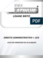Lei 8666 - Lista de Exercícios de Para Platinum (1)