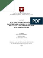 Tesis Buscando Estrategias para identificar factores de riesgo en pPacientes con Acinetobacter Multiresistente