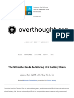 The Ultimate Guide to Solving IOS Battery Drain — Overthought