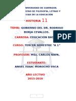 Gobierno Del Dr. Rodrigo Borja Cevallos