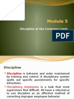 Module 5 - Discipline at Company Level