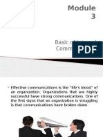 Module 3 - Basic of Internal Communication