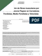 La Composición de Fibras Musculares Por El Test de Potencia Flegner en Corredores Fondistas, Medio-Fondistas y Velocistas