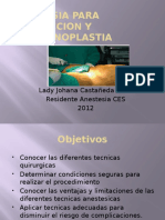 anestesia y liposuccion