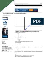 Equações e Inequações Do Primeiro e Segundo Grau _ Seja Aprovado Em Concursos Públicos