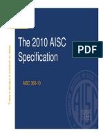 2010 AISC Spec Presentation