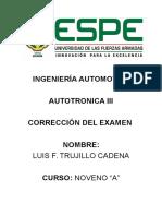 Corrección Examen Luis Trujillo