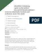 Effect of Chlorhexidine