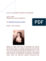 CONFIDENTES Santa Margarita María de Alacoque