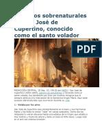 7 Hechos Sobrenaturales de San José de Cupertino