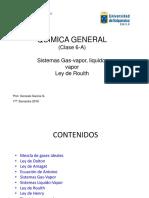 QUIMICA GENERAL Clase 6-A Liquido-Vapor Ley de Roulth
