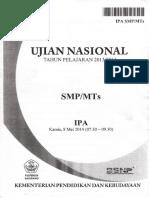 Naskah Soal UN IPA SMP 2014 Paket 1.pdf