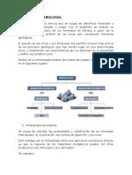 Minerología y Petrología.