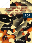 Novena St Anthony Mary Zacccaria