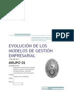 Evolución de Los Modelos de Gestión Empresarial