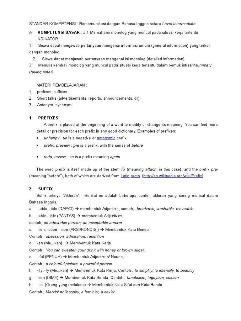 Materi bahasa inggris kelas xii onomastics semantics stopboris Gallery