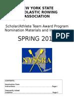 2016 NYSSRA Scholar-Athlete FAQ