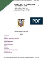 Constitucion de La Republica Del Ecuador 2008