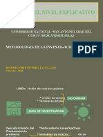 ESTUDIO DEL NIVEL EXPLICATIVO