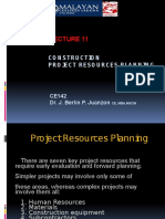 Lecture 11- Project Resources Planning