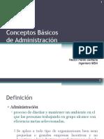 Conceptos Básicos Administración