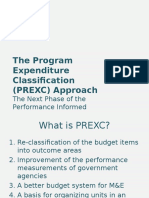 Program Expenditure Classification