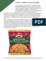 GALLETAS DE PLATANO Y AVENA (Versión Extendida)