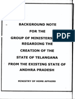 Creation of State of Telangana