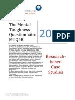 The Mental Toughness Questionnaire MTQ48