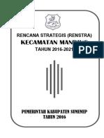 Renstra Kecamatan Manding 2016-2021