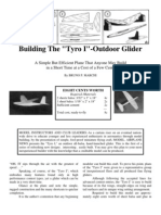Tyro 1 - a Free-Flight Model Airplane (Glider)