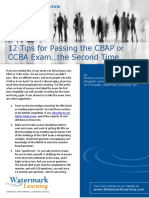 12 Tips for Passing the CBAP or CCBA Exam the Second Time