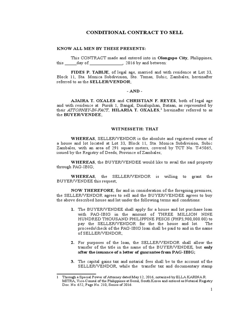 Contract to sell pag ibig notary public civil law common law platinumwayz